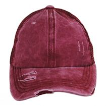 High Ponytail Distressed Mesh Trucker Baseball Cap alternate view 6