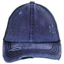 High Ponytail Distressed Mesh Trucker Baseball Cap alternate view 18