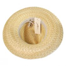 Solitaire Milan Straw Fedora Hat in
