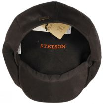 Many Leather Newsboy Cap in