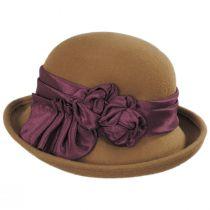Bengaline Band Wool Felt Cloche Hat in