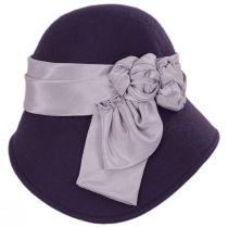 Bengaline Band Wool Felt Asymmetrical Cloche Hat in