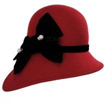 Velvet Band Wool Felt Asymmetrical Cloche Hat alternate view 2