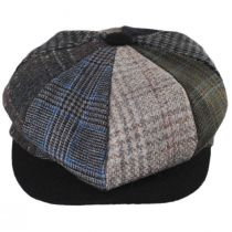 Parma Patchwork Wool Blend Newsboy Cap alternate view 6