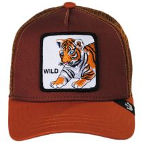 Wild Tiger Kids Trucker Snapback Baseball Cap alternate view 2