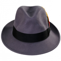 Pinch Crown Crushable Wool Felt Fedora Hat alternate view 12