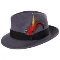 Pinch Crown Crushable Wool Felt Fedora Hat alternate view 13