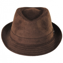 Corduroy C-Crown Trilby Fedora Hat alternate view 8