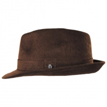 Corduroy C-Crown Trilby Fedora Hat alternate view 9