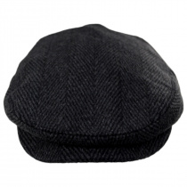 Large Herringbone Wool Blend Ivy Cap in
