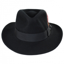 Jaxon Crushable Wool Felt Ford Fedora Hat XX-Large, Black