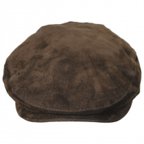 Five-Point Suede Ivy Cap in