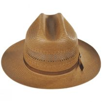 Open Road Shantung Vented Straw Western Hat alternate view 2