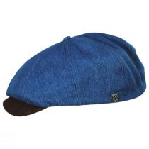Brood Cotton and Suede Newsboy Cap in