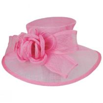 Deux Fleurs Sinamay Straw Boater Hat alternate view 2