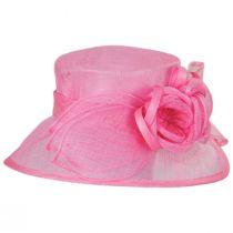 Deux Fleurs Sinamay Straw Boater Hat alternate view 3