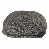 Marl Tweed Wool Blend Newsboy Cap in
