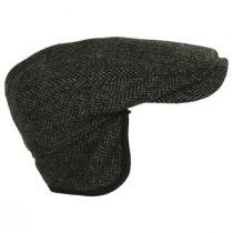 Herringbone Check Harris Tweed Wool Ivy Cap alternate view 4