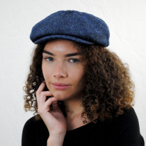 Harris Tweed Skye Wool Newsboy Cap in