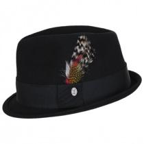 Dekker Crushable Wool Felt Trilby Fedora Hat alternate view 3