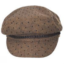 Ashland Polka Dot Wool Blend Fiddler Cap in