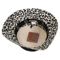 Snow Leopard Wool Felt Cloche Hat in