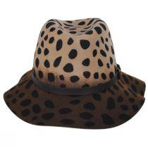 Leopard Wool Felt Fedora Hat alternate view 2
