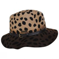 Leopard Wool Felt Fedora Hat alternate view 3