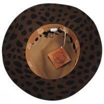 Leopard Wool Felt Fedora Hat alternate view 4
