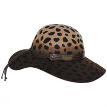 Leopard Wool Felt Floppy Hat in