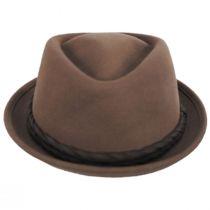 Gone Red Wool Diamond Crown Fedora Hat alternate view 2