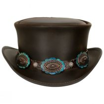 Bronze Oval Leather Top Hat in