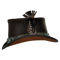 Tapa Leather Top Hat in