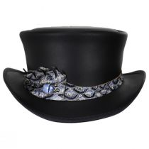 Dragon Iris Leather Top Hat in