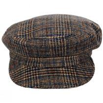 Unstructured Plaid Wool Blend Fiddler Cap alternate view 2