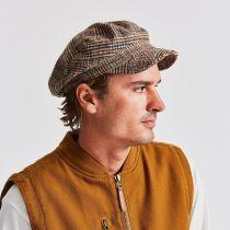 Unstructured Plaid Wool Blend Fiddler Cap alternate view 5
