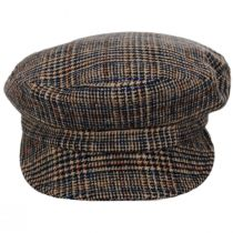 Unstructured Plaid Wool Blend Fiddler Cap alternate view 8