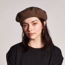 Audrey Satin Lined Wool Beret alternate view 7