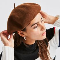 Audrey Satin Lined Wool Beret alternate view 53