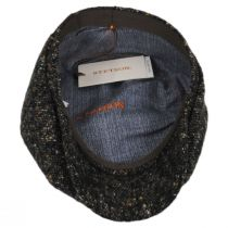 Donegal Marl Tweed Wool and Cotton Newsboy Cap in