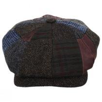 Patchwork Wool Blend Newsboy Cap in