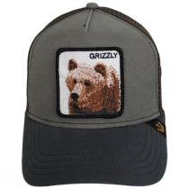 Grizzly Bear Trucker Snapback Baseball Cap alternate view 2