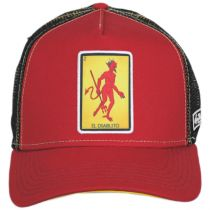 Loteria El Diablito Snapback Trucker Baseball Cap alternate view 2