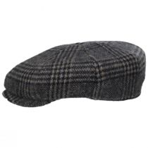 Glencheck Brushed Wool Blend Newsboy Cap alternate view 6