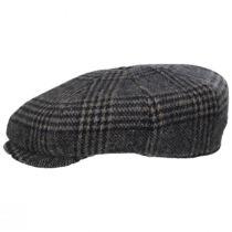 Glencheck Brushed Wool Blend Newsboy Cap alternate view 10