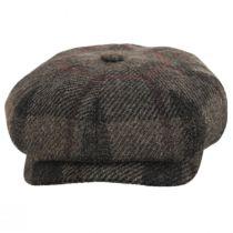 Harris Tweed Wool Newsboy Cap in