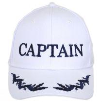 Captain Snapback Baseball Cap - White alternate view 3