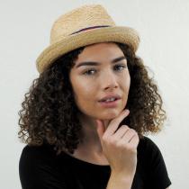 Golden Hill Raffia Straw Fedora Hat alternate view 15