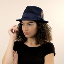 Blues Crushable Wool Felt Trilby Fedora Hat alternate view 32