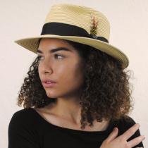 Summer C-Crown Toyo Straw Fedora Hat alternate view 10
